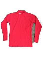 Boys / Mens Red Under Armour Long Sleeve Mock Neck Compression Shirt Size Large