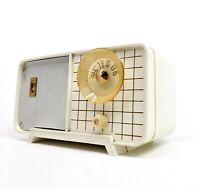 Vintage Philco Tube Radio Model E-810-124 White Mid Century Modern E810 Working