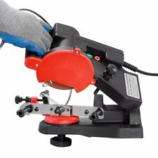 ELECTRIC CHAINSAW SHARPENER GRINDER CHAIN SAW BENCH MOUNT W BRAKE AND WHEEL