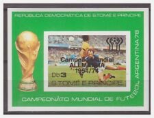 0190 Sao Tome 1978 soccer Argentina overprint Germany S/S MNH imperf