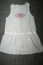 Kleid ärmellos Gr. 98/104 ღღ creme / samt  ღღ wNEU