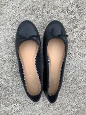 TOPSHOP Black Leather Ballet Flats Loafers Womens Shoes Sz EU 38 Sz 7 7.5 👣b15