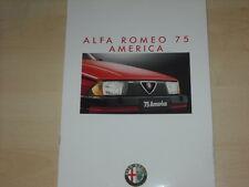 61563) Alfa Romeo 75 America Prospekt 05/1987