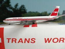 Inflight500 TWA Twin Stripe B707-300 N779TW plus Herpa Wings Katalog **RARE**