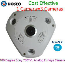 HD Sony 700tvl CCD 180 degree Wide Angle Viewer Analog CCTV Dome camera Home BNC