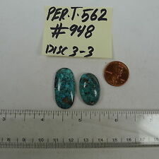 Persian Turquoise 100% Natural 2 Oval Cabochon 32 TCW