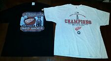 2002 Detroit Red Wings Stanley Cup Champions XL T-Shirt LOT Collection nwot vtg