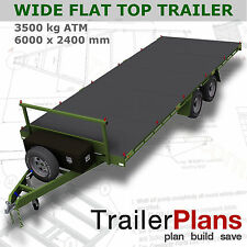 Trailer Plans - 6m FLAT TOP TRAILER PLANS - PLANS ON CD-ROM -Flatbed,Car Trailer