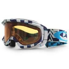 Oakley 57-422 Ambush Purple Cubism Persimmon White Blue Snow Board Ski Goggles