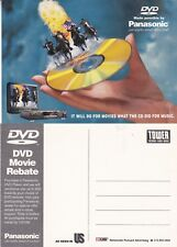 PANASONIC DVD PLAYER UNUSED ADVERTISING COLOUR  POSTCARD