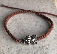 Handmade Fashion Adjustable Owl Charm Knitted Bracelet