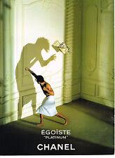 PUBLICITE ADVERTISING 064  1993  CHANEL   parfum homme  EGOISTE PLATINUM