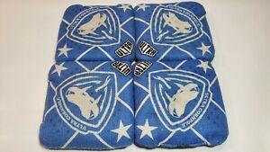 Set of 4 Ultra Viper C Cornhole Bags BLUE