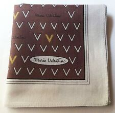 HANDKERCHIEF ART VINTAGE V GOLD BROWN CLASSIC MEN'S POCKET SQUARE SCARF~18""