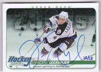 14-15 Upper Deck Vincent Lecavalier 15/15 Auto Hockey Heroes Lightning 2014