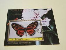 Ajman State, Briefmarkenblocks,o, Motiv Schmetterlinge, Foto