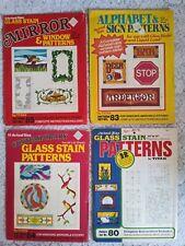 Titan corporation lot alphabet stained glass patterns windows mirrors vintage