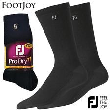 FOOTJOY PRO-DRYⓇ MENS BLACK GOLF CREW GOLF SOCKS / 2 PAIR VALUE PACK