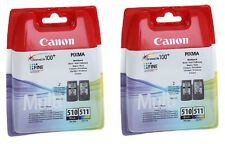 2 X Negro + 2 X Color pg-510 cl-511 Pixma Mx320 Mx330 Original Cartuchos De Tinta
