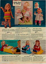 1970 ADVERTISEMENT Doll Weepsie Wiggles Baby Tears Bunny Baby Tumbling Tomboy