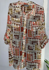 Sheer Plus Size Aztec Top With Layering Tank Size 26/28