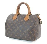 Authentic LOUIS VUITTON Speedy 25 Monogram Boston Hand Bag Purse #30779