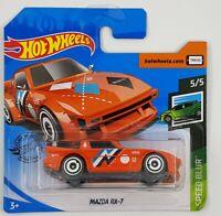 Hot Wheels Mazda RX-7 Orange Speed Blur 2020 Die-cast