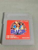 B POKEMON RED Pocket Monsters Gameboy Nintendo Gameboy Japanese Gameboy