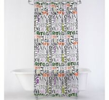 JCP Studio Text Lingo Shower Curtain 72x72in FREE SHIPPING  A252