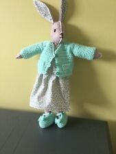 🐰HAND MADE CROCHETED CARDIGAN & MARY-JANE SHOES FOR LUNA LAPIN FELT RABBIT🐰