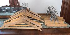 Lot Of 22 Vintage Wooden Coat, Suit & Pants Hangers