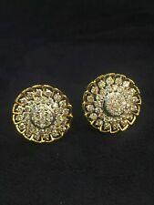 2.16 TCW Round Brilliant Cut Diamonds Stud Earrings In 750 Stamped 18Karat Gold