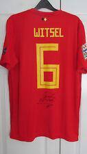 Signed AXEL WITSEL Belgium 2018 home Shirt! eden hazard