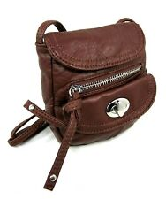 WILD PAIR FLAP CLOSURE CROSS BODY BAG, BROWN, ONE SIZE, NEW