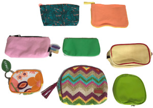 Lot of Cosmetic Bags 8-Pack Clinique Ipsy Burt's Bees Stephanie Johnson