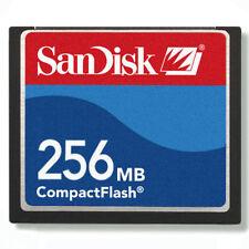 256MB SanDisk CompactFlash CF Carte Mémoire SDCFB-256/SDCFJ-256 avec/étui