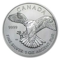 2014 $5 Canadian Peregrine Falcon (Birds of Prey Series) 1 oz .9999 Silver Coin