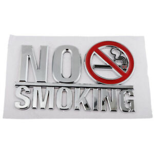 Sticky Acrylic Mirror No Smoking Sign for Public Places Decoration 15.7x10.3cm