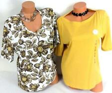 2 Lot charter club honey yellow solid/karen scott white floral plus top XL