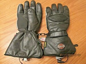 Harley Davidson Heated Gloves made w KEVLAR 12 Volt Thinsulate Reflective  large
