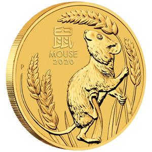 Australien 100 Dollar 2020 Jahr der Maus | Mouse (1.) Lunar III. - 1 Oz Gold ST