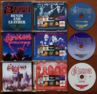 SAXON - DENIM AND LEATHER POWER & THE GLORY CRUSADER CD REISSUE 2009 BONUS DEMO