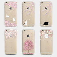 Cute Sakura Cherry Blossom TPU Gel Phone Case Cover For iPhone 5 5S 6 6S 4.7