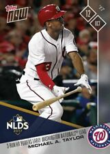 2017 TOPPS NOW #752 MICHAEL TAYLOR 3 RUN HR POWERS EARLY NATIONALS LEAD