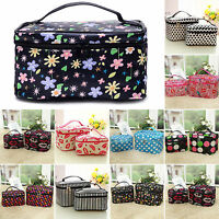 Women Floral Make Up Cosmetic Bag Travel Toiletry Wash Holder Organizer Case Box