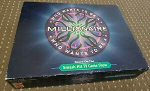 2000 Mattel Who Wants To Be A Millionaire Trivia Board Game TV Show