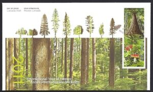 Canada  # 2462 - 2463    YEAR OF THE FOREST   Brand New 2011 Unaddressed Issue