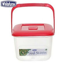 Whitefurze Food Canister 6 Litre Red Lid Kitchen Storage Home New
