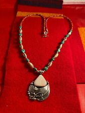 Native American Church Dead Pawn Gourd Dance Apache Sterling turquoise Necklace