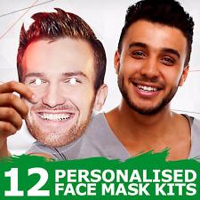 Maschere Personalizzate Faccia Foto Compleanno Gallina Addio al Celibato fai da te//assemblata all/'ingrosso di 12 30